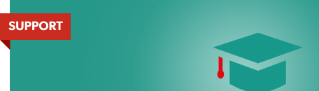 Teal banner with motor board icon